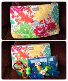 Keep your teething toys cold on the run with a thermal zipper pouch.