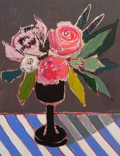 Lulie Wallace. Stripes and florals.