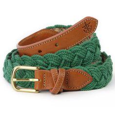 Green braided belt by KJP.