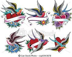 Vecteur - oiseau, tatouage - Banque d'illustrations, illustrations libres de droits, banque de clip art, icônes clipart, logo, image EPS, images, graphique, graphiques, dessin, dessins, image vectorielle, oeuvre d'art, art vecteur EPS