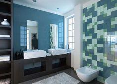 Piastrelle blu in stile moderno Ceramica Vogue - Piastrelle per bagno moderno 2016: modello antibatterico ecologico