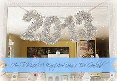Super Easy to make - Glittery DIY New Year's Eve Garland - 2014 of course!