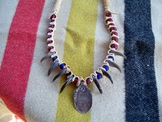 Bear Claw necklace with Trade Silver by Miss Tudy of Etsy https://www.etsy.com/shop/misstudy