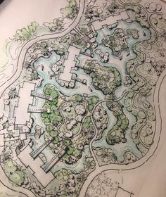 Resort . . . . #sketch #initial #concept #landscapearchitecture #plan #bnw #landscapedesign #landscape