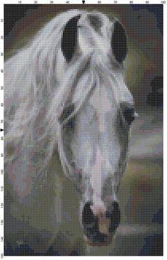 Cross Stitch Pattern White Arabian Horse by theelegantstitchery, $10.00