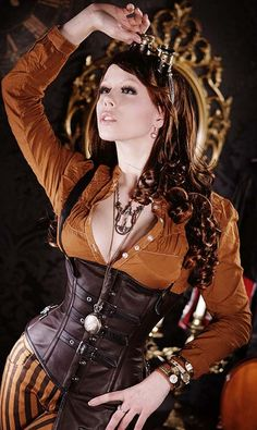 Steampunk style ~http://theskunkpot.com/index.php/beautiful-steampunk-corsets-by-truls-stokka/
