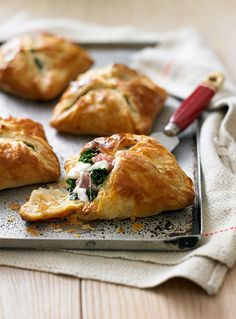 These savoury cheesy pastries are made with winter greens, mozzarella and Parma ham. Great to serve as a starter or at lunchtime.