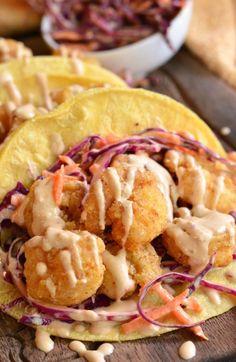 Chipotle Chili Crispy Shrimp Tacos