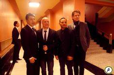 Jesús Ibarra, de JI+B, con un look impecable el día en que ambos recibieron el premio Quorum en el Palacio de Bellas Artes.