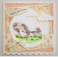 Mrs B's Blog: Sweet Catch Birthday Card Design, Birthday Cards, Happy Birthday, Penny Black Cards, Good Morning Everyone, Happy B Day, Watercolor Cards, Cool Cards, Cardmaking