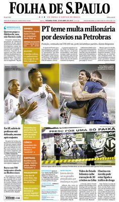 Capa Folha de S.Paulo - Edição São Paulo