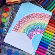 Here one of my favorite drawings August 2017 ., using mixt technique Mandala Doodle, Mandala Art Lesson, Mandala Artwork, Sharpie Drawings, Sharpie Art, Doodle Art Drawing, Mandala Drawing, Dibujos Zentangle Art, Zentangles