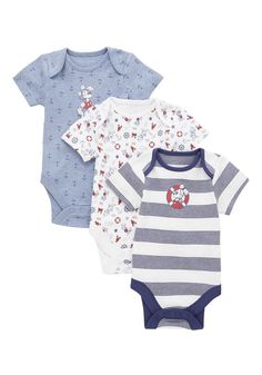 Tesco direct: Disney 3 Pack of Mickey Mouse Short Sleeve Bodysuits