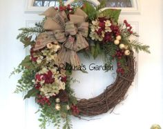 HOLIDAY SALE 15% off-Christmas Wreath-Holiday by ReginasGarden