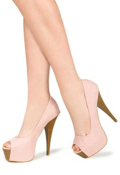 Light pink Shoe toe pump high heel summer fashion shoes for women platform heels #fashion #shoe #heels #pump