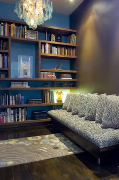 Modern library in a small space