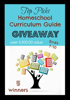 HUGE homeschool curriculum giveaway worth over 6300.00 of popular homeschool products. You will want to enter because we are looking for 5 winners.
