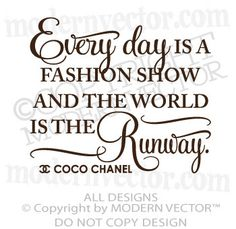 Coco Chanel Quote Vinyl Wall Decal Lettering The by ModernVector, $15.63