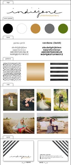 indiejane photography brand board