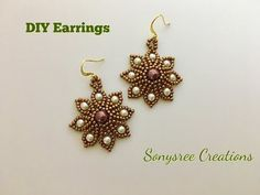 Autumn Flower Earrings - YouTube