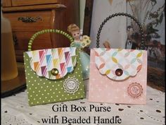 Gift Box Purse with Beaded Handle - YouTube