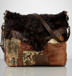 a801c9a72bad Ralph Lauren   The Patchwork Kilim Tapestry Bag   High Fashion   Ethnic   amp  Oriental