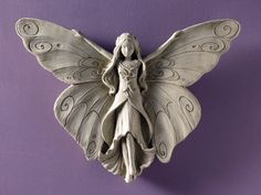 Madame Butterfly - Carruth Studio: Waterville, OH - Decorazioni Natalizie Idee Slab Pottery, Ceramic Pottery, Ceramic Art, Clay Wall Art, Clay Art, Pottery Angels, Clay Angel, Clay Fairy House, Ceramic Angels