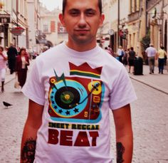 Male T-shirt Sweet Reggae Beat We can't get enough of this Sweet, Sweet Reggae Beat. Designed special for Hot Shot Wear by artist Yauhen Zawadski. T-shirt was made in Poland from great quality cotton.