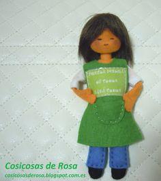 Las Cosicosas de Rosa: Maestra reivindicativa. Escuela pública de todos y para todos. #cosicosas #fieltro