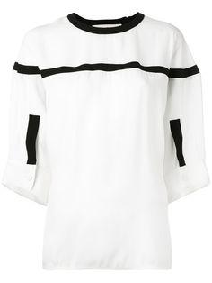 Shop Marni contrast trim blouse.