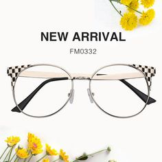 4a5cfd730b1 Lenna Browline Glasses FM0302-01. See more. Jerry Cat Eye Silver Glasses  FM0332-01-1 Prescription Glasses Online