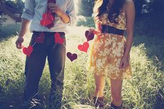 Great idea for a Valentines Day photo shoot..