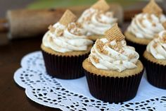 Golden Grahams Cupcakes
