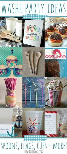 Washi Tape Party Ideas | For more washi projects and inspiration visit thewashiblog.com | #washi #washitape #party