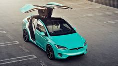Tiffany Blue Tsportline Tesla Model X