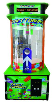 Ticket Tornado Ticket Catching Redemption Arcade Game From Coast To Coast Entertainment  Get More Information about this game at: http://www.bmigaming.com/games-catalog-coasttocoastentertainment.htm