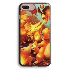 Pokemon Fire Type Starters Apple iPhone 7 Plus Case Cover ISVF826