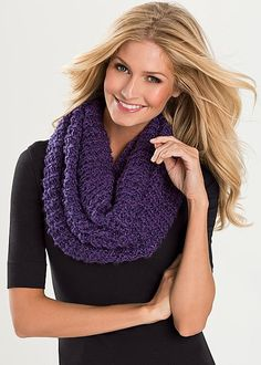 PURPLE Metallic infinty scarf from VENUS