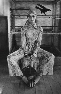 Ali MacGraw's perfect print-on-print-on-perfect strappy sandals. Photo by Bob Richardson, 1970.