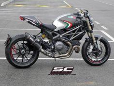 Ducati Monster by SG Project Moto Ducati, Ducati Cafe Racer, Motor Cafe Racer, Ducati Motorcycles, Ducati 796, Cafe Racers, Ducati Monster 1100 Evo, Ducati Monster Custom, Monster Co