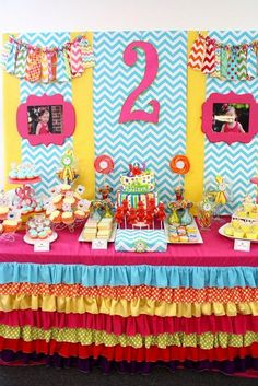 This girly Sesame Street party is amazing!!! So many cute details that could be used for any theme.