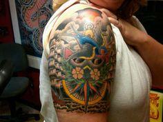 Nautical  Sleeve Tattoo