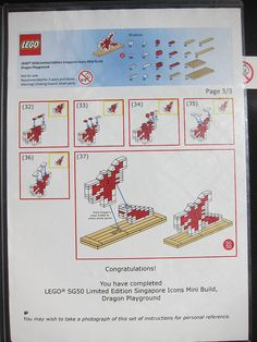 LEGO SG50 Limited Edition Singapore Icons Mini Build - Dragon Playground - Instructions - 3 of 3
