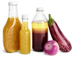 Glass Salad Dressing Bottles - Food Containers