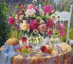 Barbara Jaskiewicz, 1957 ~ Impressionist Palette Knife painter