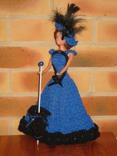 Crochet Barbie blue dress ♥LCD-MRS♥ with diagram