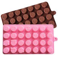 1 x Different Emoji Expression Chocolate Mold Mold Size: 18.3 cm x 10.3 cm x 1.2…