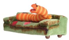 Slimey the Worm September 19, 1981 is a light and dark orange striped worm that is the pet of Oscar the Grouch Only 7 cm (2¾in) he has done many extreme things, including winning a gold medal in the Worm Olympics, parachuted from a plane, been shot out of a cannon whilst kissing girlfriend Glo and become the first worm in space.