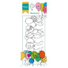 Tampon Marianne Design Motif Dessin. Bordure Ballon Anniversaire Fête