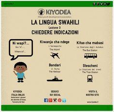 #Swahili #Lesson3 Chiedere indicazioni #NiWapi #Dov'è #WhereIsIt #Tanzania #Africa #KiyodeaItaliaOnlus www.kiyodea.it